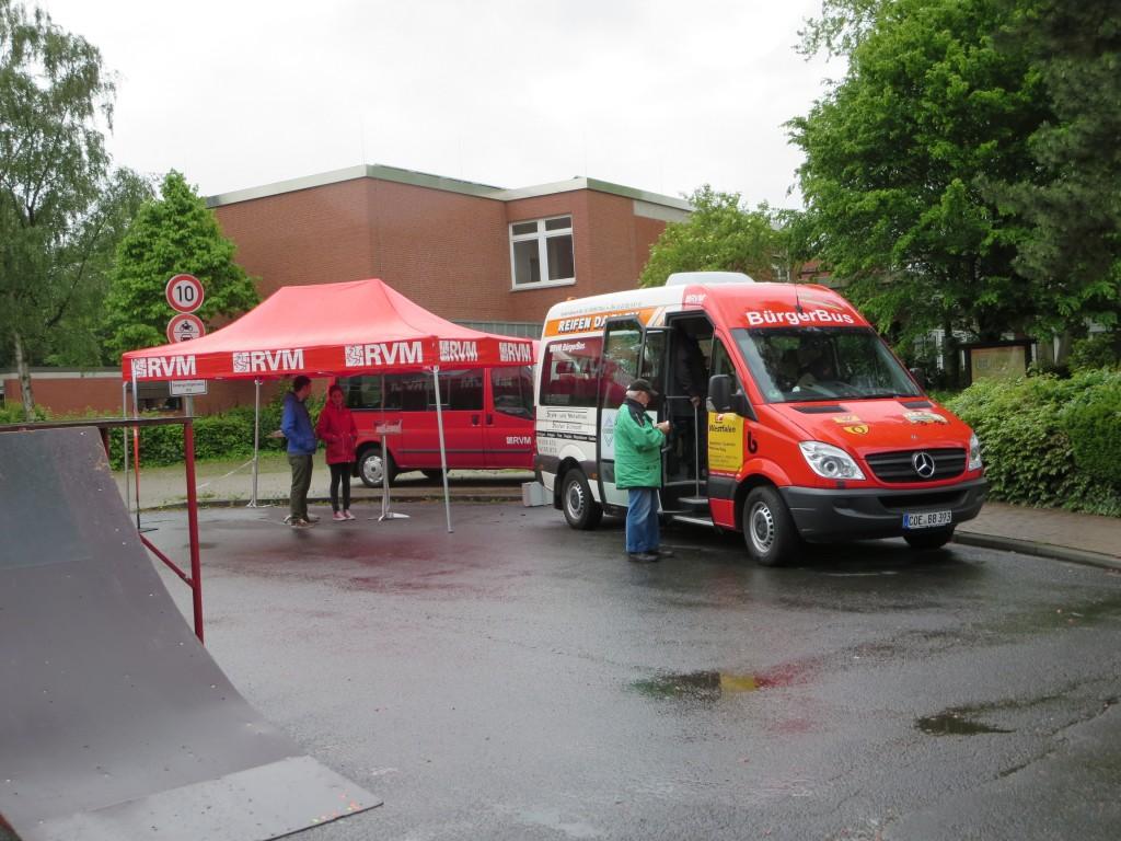 Bereits beim Aktionstag 2014 wurde in Senden das Konzept des Bürgerbusses vorgestellt.